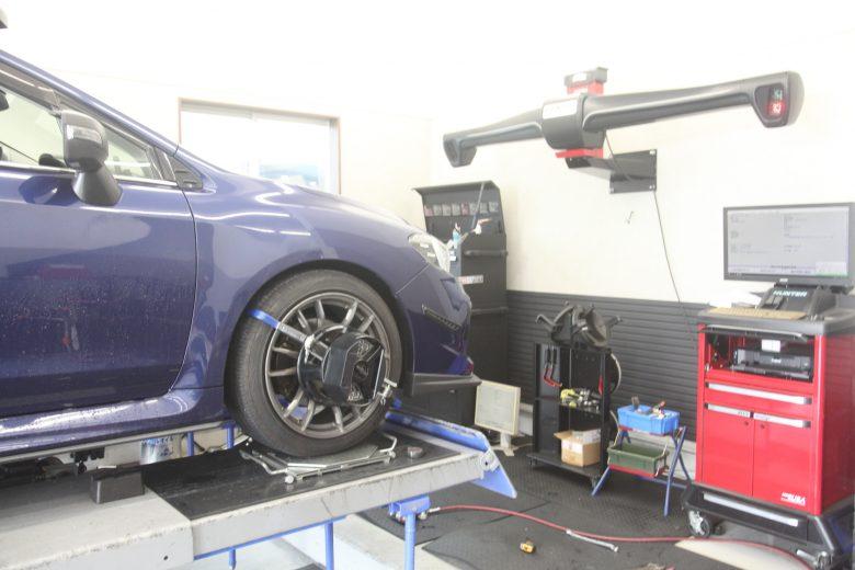 レヴォーグ VM4 車高調整と1G締め・四輪アライメント調整