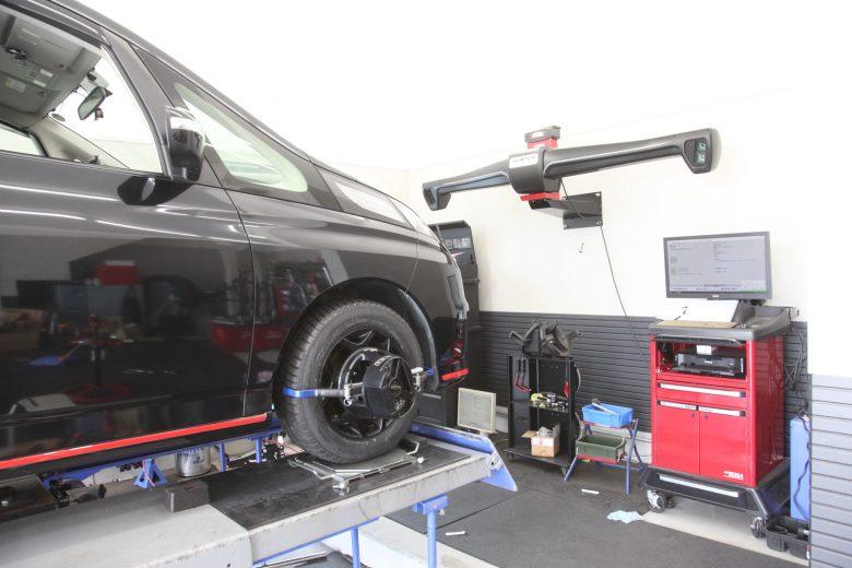 ビアンテ 持ち込みタイヤ交換 四輪アライメント調整