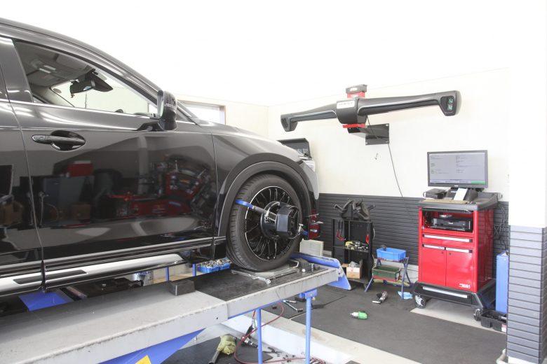 CX-5 KF2 TEIN車高調車高調整 1G締め 四輪アライメント調整