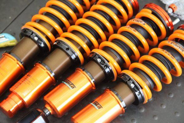 シビック EK9 アラゴスタ車高調取り付け 四輪アライメント調整