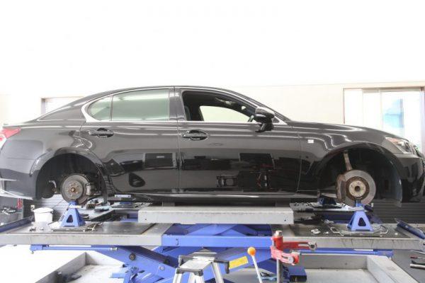 レクサス GS450h タイヤ交換と1G締め 四輪アライメント調整